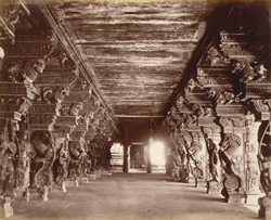 Corridor in Temple [Madurai]